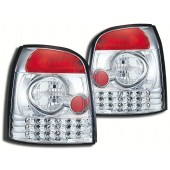Clear Chrome LED Taillights for B5 A4, S4 & RS4 Avant