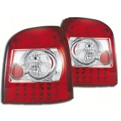 Crystal Red LED Taillights for B5 A4, S4 & RS4 Avant