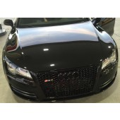 RS7 Style Black Sport Mesh Grille for Type 4G A7 & S7