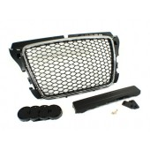 RS3 Chrome Black Badgeless Front Grille for 8P A3 Facelifted