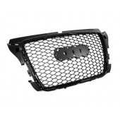 RS3 Black Badgeless Front Grille for 8P A3 Facelifted