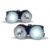 Chrome Projector Angel Eyes Headlights for BMW E30