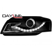 S5 Style LED Ecode Smoked Projector Headlights for 8P A3