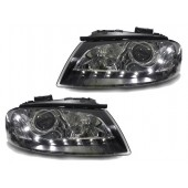 R8 Style Bi-Xenon LED Black Projector Headlights for AUDI 8P A3