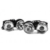 E-Code Smiley Ellipsoid Chrome Projector Headlights for BMW E30