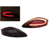 981 Style Red / Smoked Light Bar LED Taillights for 987 Boxster & Cayman