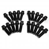 Agency Power 20pc Gloss Black Wheel Lug Bolt Set for Porsche