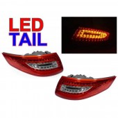Crystal Red / Clear LED Taillights for 997
